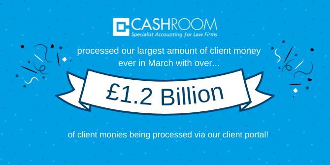 A Billion Pound Month at Cashroom